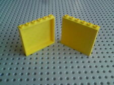 Lego Panels 1x6x5 with sides - Yellow x2