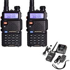 1 Pair Baofeng UV-5R Dual-Dand UHF/VHF Two-way Ham Radio + Free Headset