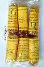 Paquete De 6 Lumbini budista tibetano Cuerda incienso Nepal hecho a mano 100% Natural