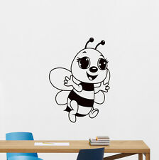 Bee Wall Decal Cute Bumblebee Kids Baby Vinyl Sticker Nursery Decor Art 187hor