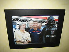 David Coulthard with George Lucas 'Star Wars'  Signed Photo (8x12 inches) Framed