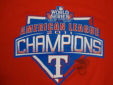 MLB Texas Rangers Major League Baseball World Series Champions 2011 T Shirt XL