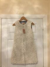 New Cream Gilet Shaggy Faux Fur Size 10 - Would Fit Size 8 Too