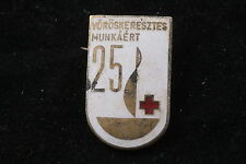 Hungary Hungarian Rare 25 Donations Blood Donor Badge For Red Cross Work Medal