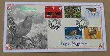 CHRISTMAS 1995 BRADBURY FDC CNATERBURY H/S SIGNED TV PRESENTER MAGNUS MAGNUSSON