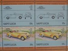 1940 HUDSON EIGHT Car 50-Stamp Sheet / Auto 100 Leaders of the World