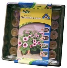 (16) JIFFY-7  25 CT PEAT PELLETS ALL IN ONE GREEHOUSE J425 SEED STARTING TRAY