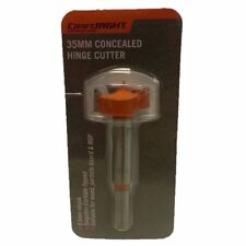 Craftright CONCEALED HINGE CUTTER 35mm,9.5mm Shank,Tungsten Carbide Tipped Teeth