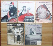 L'ASSIETTE AU BEURRE - LOTTO di 5 Riviste Satiriche del 1903* RARE e OTTIME