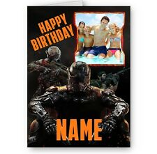Personalised Photos & Name Call Of Duty Black Ops Theme A5 Birthday Card