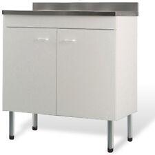 Mobile + lavello bianco x cucina componibile facile da pulire rapido da montare