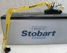 Atlas Editions - Oxford Diecast Komatsu PC340 Excavator - Stobart Rail.