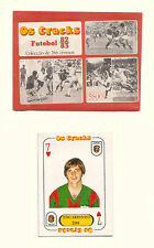 Opened 1982 Portugese Os Cracks Football Wrapper 1982 83 + Playing Card type