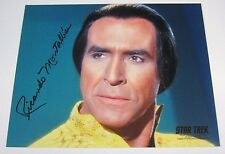 STAR TREK TOS KHAN RICARDO MONTALBAN SIGNED AUTOGRAPHED 8x10 TV PHOTO w/ COA
