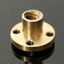 Brass ∅22mm Flange Nut for CNC 3D Printer ∅8mm 4-Start Lead Screw