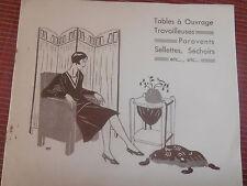 catalogue de petit meuble - sellettes - paravents - gueridon - ( ref 17 ) .