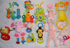 Lot of 18 Baby Rattles/Crib Toys