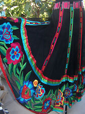 NWT~$450~BEAUTY~RARE~Western Mexican Huipil Embroidered Skirt~Vintage Collection