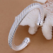 Wholesale 925 Sterling Silver Twisted Rope Bracelet & Bangle Fashion Jewelry New