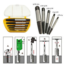 5pcs Breakage Screw Extractor Easy Out Drill Bits Damaged Broken Bolt Remover