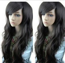 New Sexy Women Fashion Long Wavy Curly Hair Cosplay Costume Party Black Full Wig