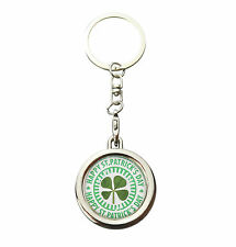 St. Patrick's Day Gift Real Shamrock Lucky Four Leaf Clover Keyring Keychain