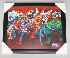 "MARVEL COMICS RUNNING MINI framed POSTER Ready to Hang LICENSED ""IRON MAN, THOR"""