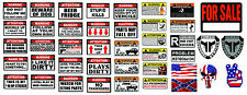 R/C 1/10 Scale Warning Body Decal Stickers SHEET OEM Custom Graphic Off Road RC