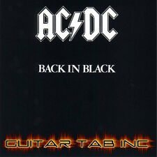 AC/DC Guitar Tab BACK IN BLACK Lessons on Disc Angus Young