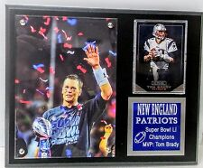 "New England Patriots Super Bowl 51- MVP Tom Brady- Sport Card Plaque 8"" x 10"""