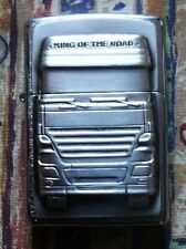 NOVELTY KING OF THE ROAD EMBLEM ZIPPO LIGHTER FREE P&P FREE FLINTS