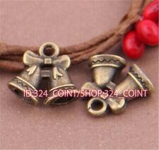 P489 15pcs Antique Bronze bell Pendant Bead Charms Accessories wholesale