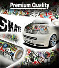 8x Pieces of 1500mm x 300mm SKATE StickerBomb Air Drain Vinyl - Car Wrap