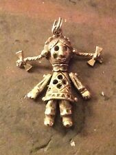 9ct ORO Bambola di pezza Charm/CIONDOLO