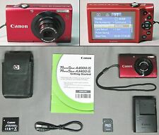 CANON POWERSHOT A3400 IS 16.1 MP DIGITAL CAMERA + ACCESSORIES