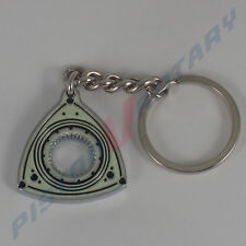ROTOR Keyring Key Chain ,Chrome, NEW, for Rotary Mazda Engine 10A 13B 12A Beaver