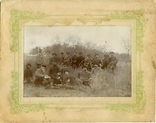 IMPERIAL RUSSIA, GROUP OF HUNTERS POSING FOR THE CAMERA - ORIGINAL ANTIQUE PHOTO