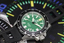 New Deep Blue Daynight Military Ops Green Automatic Sapphire Crystal Mens Watch