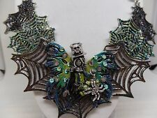 NEW KIRKS FOLLY STEAMPUNK SPIDERELLA WEB STATEMENT NECKLACE! NEW!