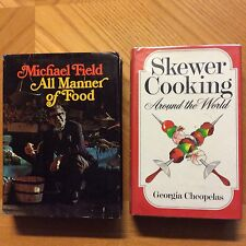 LOT OF 2 Vintage CookBOOKS-ALL Manner OF FOOD/ SKEWER COOKING AROUND WORLD HARD