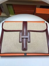 HERMES JIGE TOILE LEATHER PM 29 excellent condition - KELLY BIRKIN