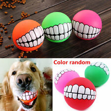 Fetch Ball Funny Toys Fetch puppy Smile Treat Resistance Teeth ball Bite