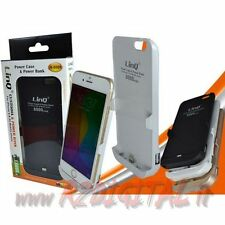 POWER BANK CUSTODIA con BATTERIA IPHONE 6 6S 8000mah CARICA CELLULARE COMBO