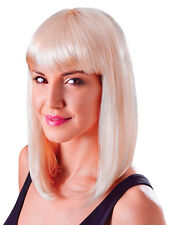 Blonde Long Bob Wig Nikki Minaj Celebrity Style 80s Chick Fancy Dress Accessory