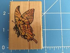 BUTTERFLY SIDE VIEW COMOTION Wood Mounted Rubber Stamp New