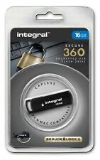 Integral 16GB Secure 360 Encrypted USB 2.0 Drive with 256 bit AES Secure Lock II