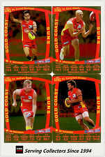2011 AFL Teamcoach Trading Cards Gold Parallel Team Set Gold Coast (7)
