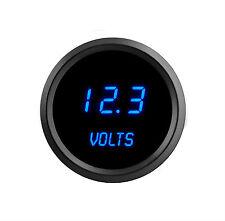 52mm 2 1/16 in Digital VOLTMETER Intellitronix Blue LEDs Black Bezel Warranty US