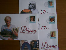 BARBADOS,1998 DIANA.4 X FIRST DAY COVERS.EXCELLENT.