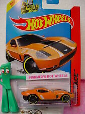 Case B 2015 i Hot Wheels FORD SHELBY GR-1 CONCEPT #178∞Orange∞Track Aces